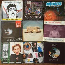 LOTTO DI 9 DISCHI 45gg Synth pop electronic disco Rockets Pet Shop Boys e altri