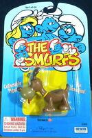 Smurfs Puppy 20405 Smurf Dog Brown Pet Rare Vintage Figure PVC Toy Figurine Peyo