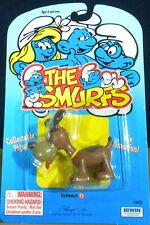 Smurfs Puppy Dog Smurf Pet Friend Vintage Toy Figure PVC Figurine Peyo MOC 20405