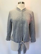 NWT J Crew Tie Front Cardigan Sweater Top Size S Heathered Gray H9758