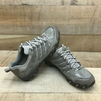 Skechers Womens Hiking Shoes Brown Gray 46757 Low Top Lace Up Leather 8