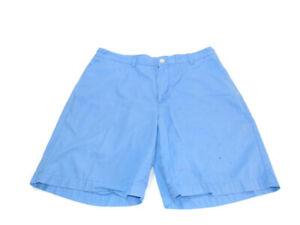 Vineyard Vines Shorts Blue Flat Front Slash Pockets Club Cotton Chino Mens 36