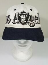 Vintage Los Angeles Raiders Logo 7 Snapback Hat White NFL Pre-owned