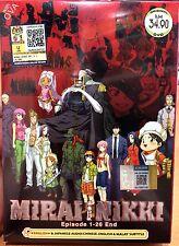 English Version ~ Mirai Nikki: Future Diary (1 - 26 End + OVA) ~ 2-DVD ~ Anime