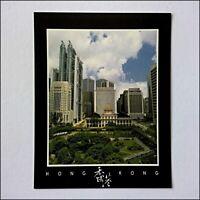 Hong Kong A Bird-Eye-View of Central District Large Postcard (P405)