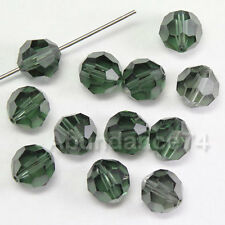 12 pieces Swarovski Element 5000 8mm Faceted Round Ball Bead Crystal TURMALINE