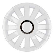 4x PREMIUM DESIGN Radkappen Radzierblenden Blenden 15 ZOLL #59 Weiß Chrom Ring