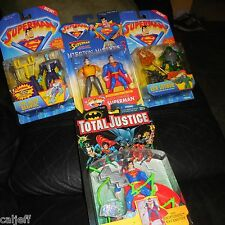 4 LOT SUPERMAN FIGURES LEX LUTHER QUICK CHANGE EVIL ALIEN BRAINIAC KRYPTONITE +