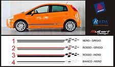 FASCE ADESIVE  PER AUTO STICKERS FIAT GRANDE PUNTO STRISCE ADESIVE AUTO TUNING