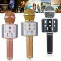 KTV- WS858 Wireless Bluetooth Karaoke Handheld Microphone USB Player Mic Speaker