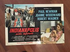 FOTOBUSTA,1969,Indianapolis,pista infernale Paul Newman,Winning,Wagner,auto car