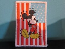 Disney Mickey Mouse American Flag Sew On Patch