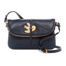 NWT MARC JACOBS Petal to Metal Percy Leather Crossbody & Key Pouch SET Navy $378