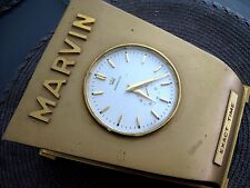 VINTAGE MARVIN WATCH CO 1950's  REFORM BREVET WHITE  DIAL CLOCK