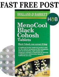 Holland & Barrett MenoCool Black Cohosh 30-60 Tablets Menopause Symptoms Relief