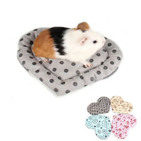 Heart Shape Warm Rabbit Guinea Pig Bed Cage Accessories Plush Hamster Mat