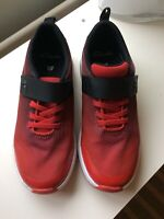 CLARKS Boys Junior Sports Trainers Aeon Pace Red UK Size 13.5 F Washable