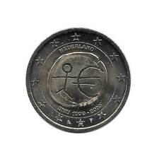 2 Euro Commemorative Coin Netherlands EMU European Economic Unification