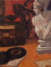 Music Theme Records Bob Wills Oil painting still life Margaret Aycock original