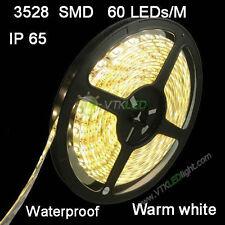12V 5M 3528 SMD 300 LED Strips Strip Light Waterproof Warm White 3000K