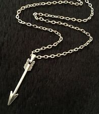 "Petite flèche collier 17"" chaîne de the hunger games walking dead archery cross bow"