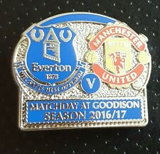 Everton v Manchester United Matchday Badge 5/12/16