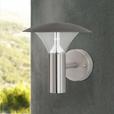 Outdoor LED Wall Light Wofi Action Field 716 Brushed Steel IP44 NEW (B)