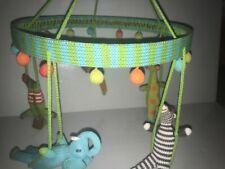 BlaBla Kids Circus Jungle Animal Mobile Baby Crochet Unisex Adjustable EUC