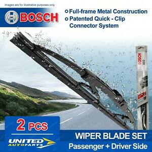 Bosch Front Pair Wiper Blades for Vauxhall Victor VX 1969-12/1975