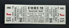 MONTREAL FORUM OLD VINTAGE TICKET STUB IN THE 60'S