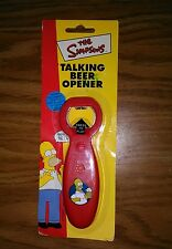 The Simpsons VERY RARE!! Homer Simpson Talking Beer Bottle Opener GREAT GIFT NEW