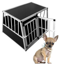Lockable Pet House Dog Puppy Cage Carrier Kennel Aluminum Car Transport Crate XL