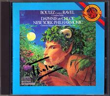 Pierre Boulez firmato Ravel Daphnis et Chloe CBS CD 1975 New York Philharmonic