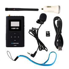 Transmetteur FM carte mémoire Aux Input Broadcast Microphone pour Voiture Music Transmit