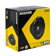 "Kicker 43C104 300 W Max 10"" Single 4-Ohm Voice Coil SVC Car Audio Subwoofer"