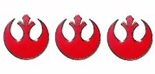 Metal Enamel Set of 3 Pins Star Wars Red Rebel Alliance 3/4″ Wide