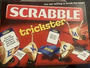 SCRABBLE TRICKSTER BOARD GAME 2010 *100% COMPLETE WITH INSTRUCTIONS RARE