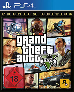 PS4 GTA V 5 Grand Theft Auto Premium Edition NEU&OVP Playstation 4