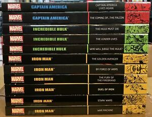 Marvel Epic Collection Lot: Iron Man, Captain America, The Incredible Hulk