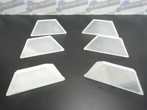 (LOT OF 6) STIMSONITE Commercial Grade Road REFLECTORS - White - One way