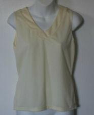 Terry Women's Sz Small Cycling Shirt V-Neck Pale Yellow Mesh Rear Pockets