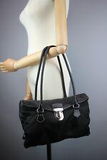 Prada Black Nylon Shoulder Boston bag