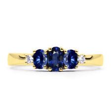 Anillos de joyería con gemas anillo con piedra de oro amarillo