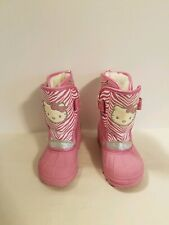Hello Kitty Girls Lined Winter Boots Size L9/10