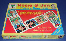 ROSIE & JIM * Vintage Picture Dominoes * 1993 Michael Stanfield * Complete *