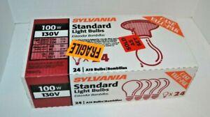 24 Pack Sylvania 100w/130v Standard A19 LIght Bulbs NEW SEALED