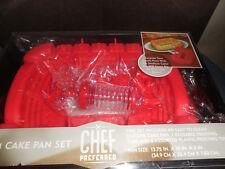 CHEF PREFERRED STADIUM CAKE PAN SET NEVER USED SILICONE CAKE PAN,1 REUSABLE TUBE