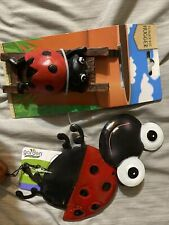 New listing Lady Bug Wind Chime With Bell And Flower Pot Hugger New
