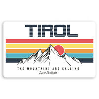 2 x 10cm Tirol Austria Vinyl Stickers Ski Cool Retro Luggage Sticker #30349