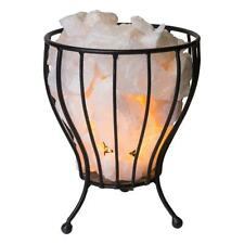 Clear Quatz Crystal Cage Calcite Natural Reiki Chakra Minerals Lamp